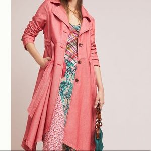 NWT Anthropologie Trench Coat